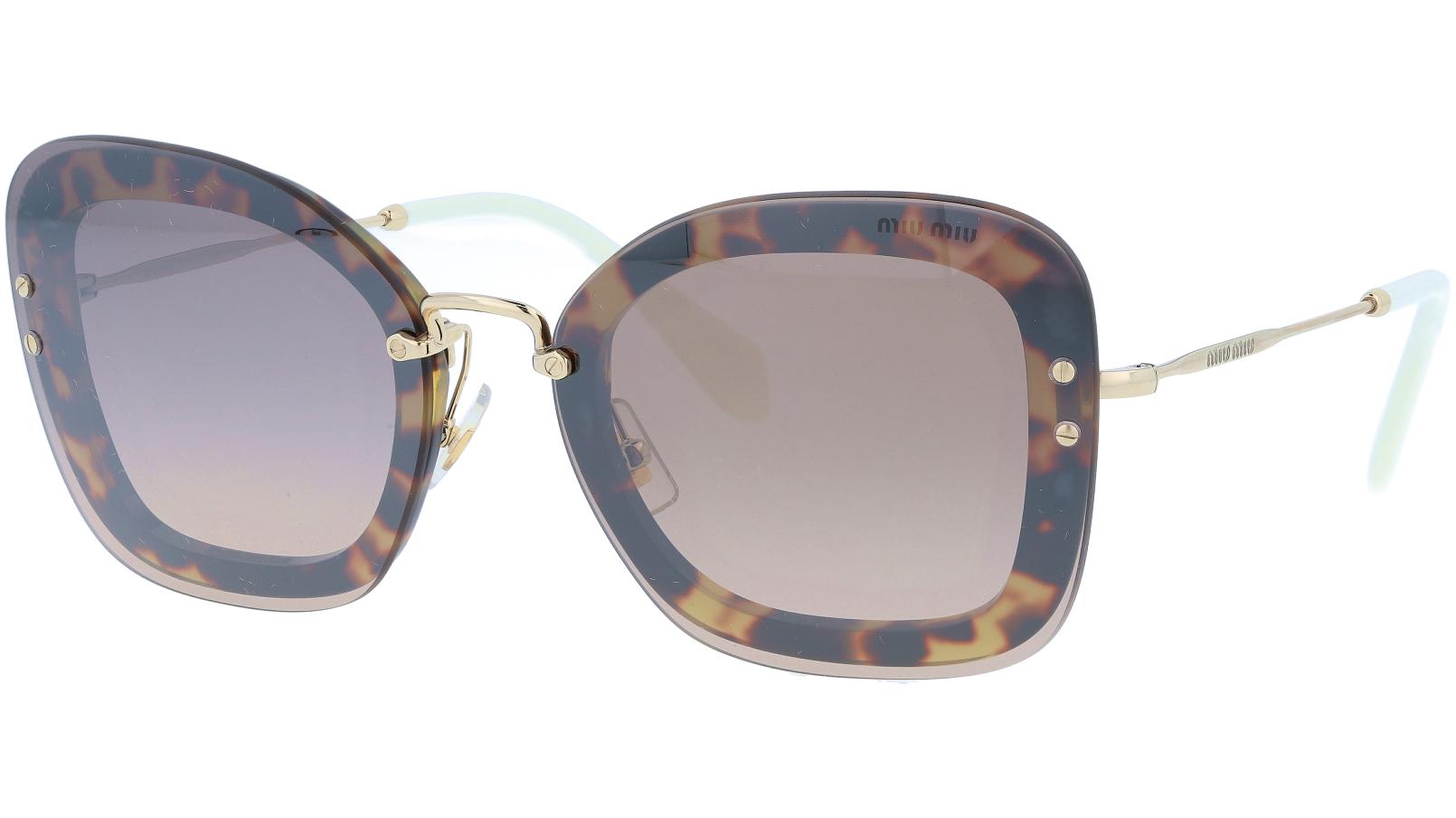 Miu Miu MU02TS 7S04P0 65 Havana Cat-Eye Sunglasses