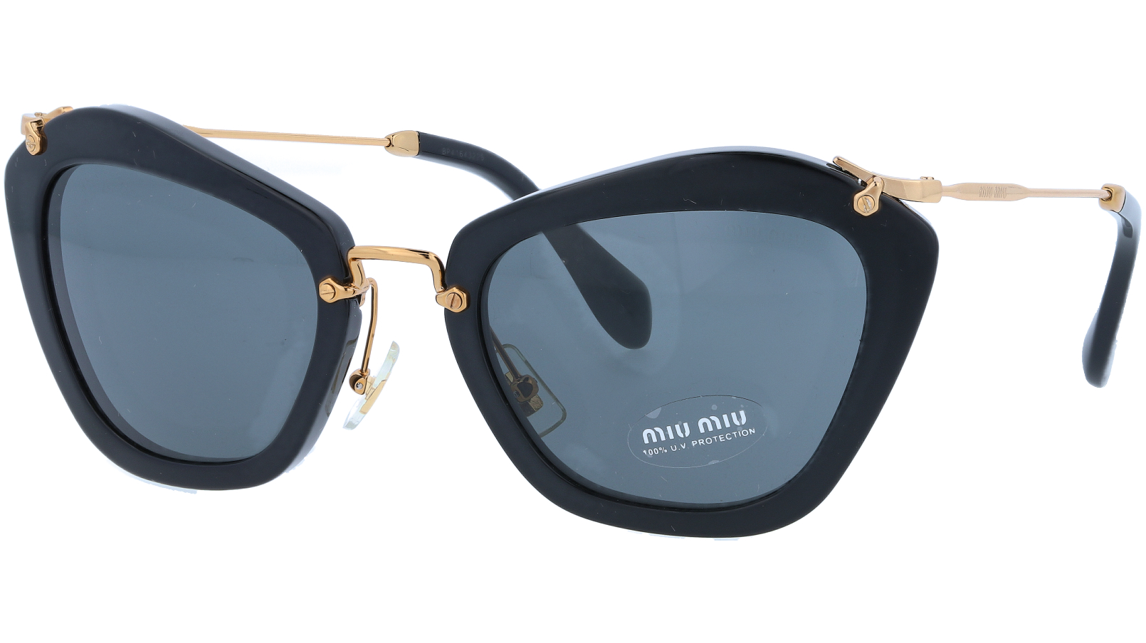 MIU MIU MU10NS 1AB1A1 55 Black Cat-Eye Sunglasses