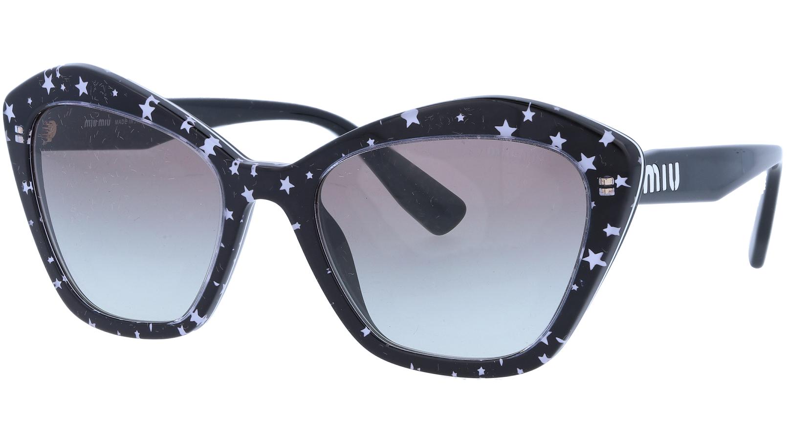 Miu Miu MU05US 1380A7 55 Black Cat-Eye Sunglasses