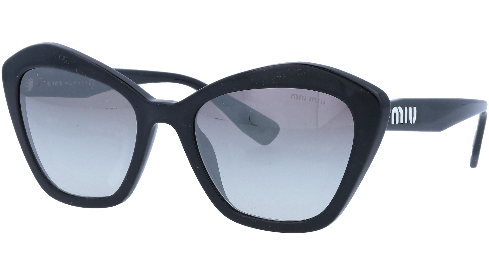 MIU MIU MU05US 1AB5O0 55 Black Cat-Eye Sunglasses