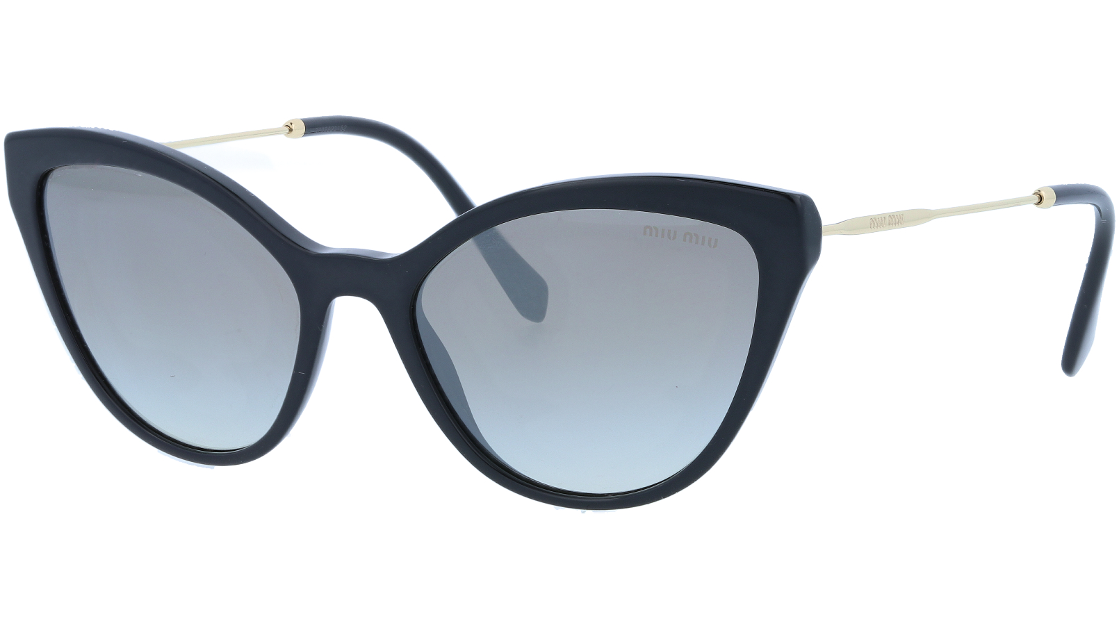 MIU MIU MU03US 1AB5O0 55 Black Cat-Eye Sunglasses