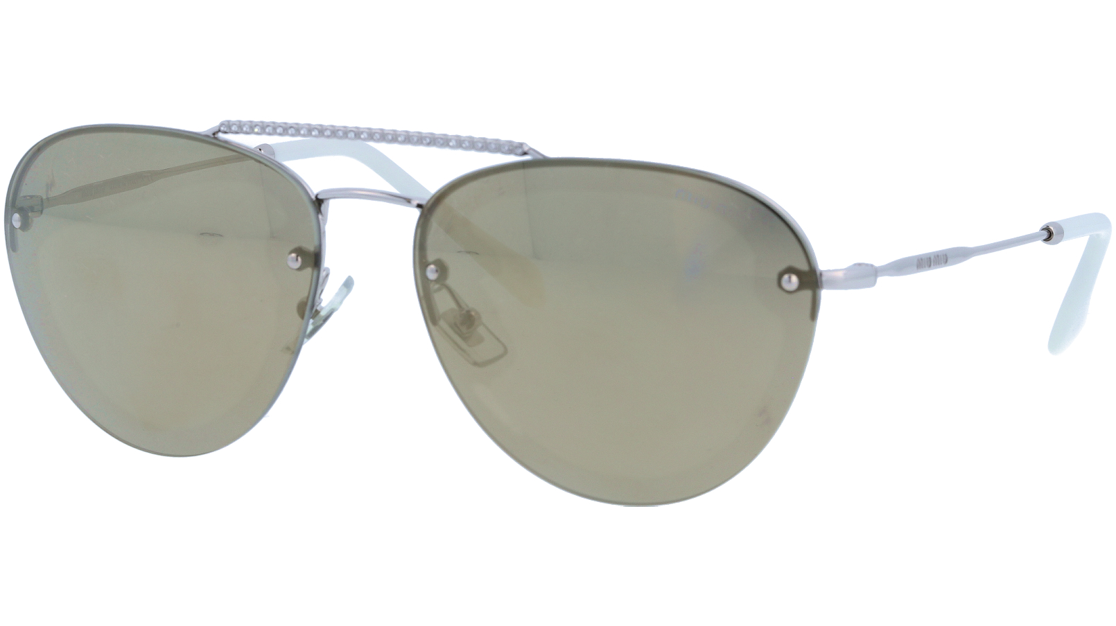 Miu Miu MU54US 1BC1C0 59 Gold Sunglasses