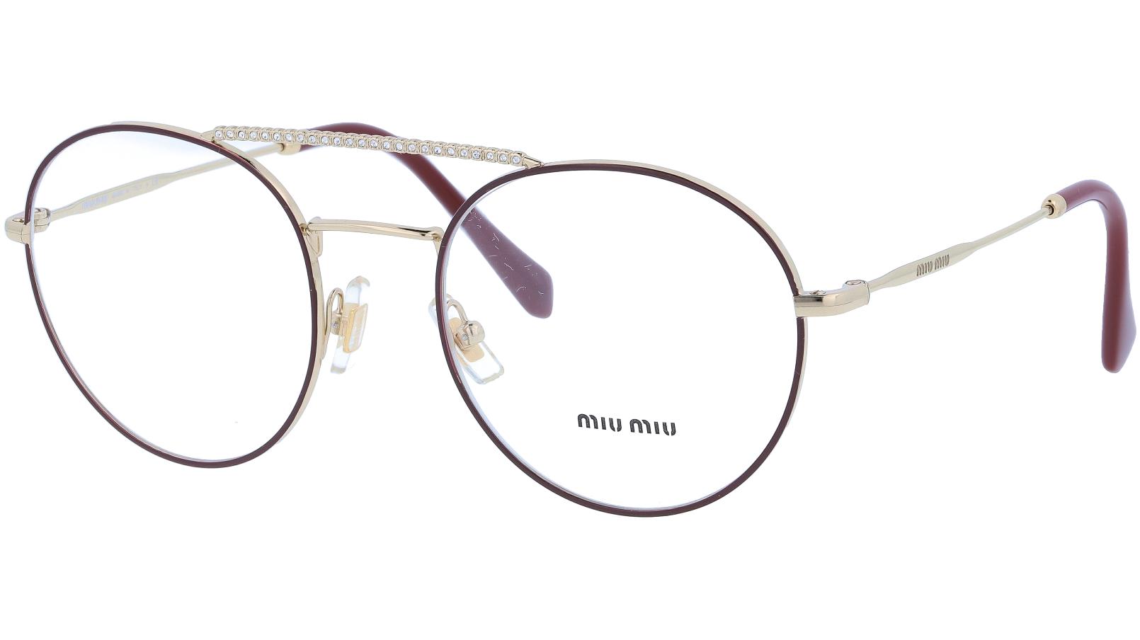 MIU MIU MU51RV R1J1O1 52 BROWN Glasses