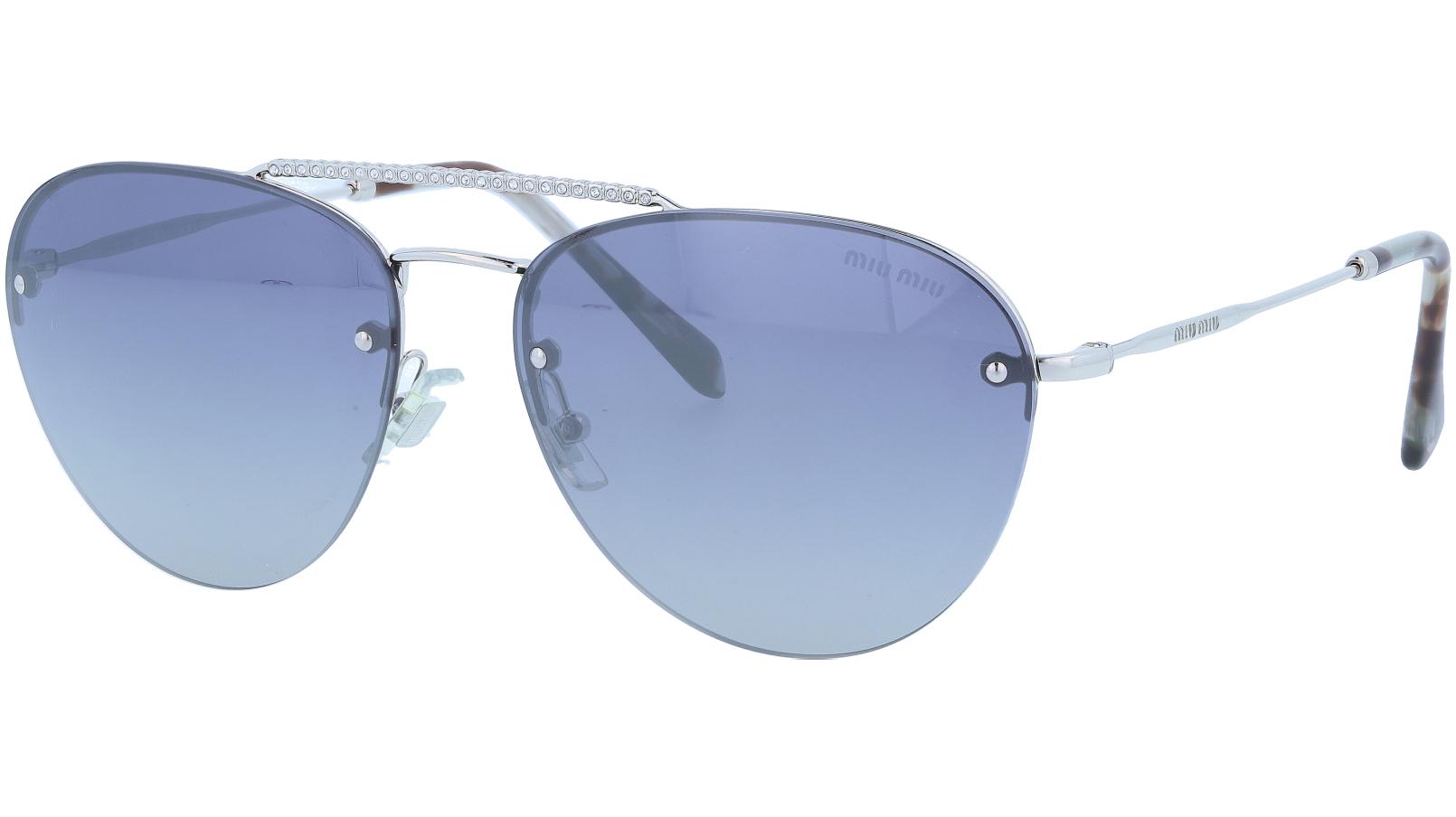 MIU MIU MU54US 1BC3A0 59 Grey Aviator Sunglasses