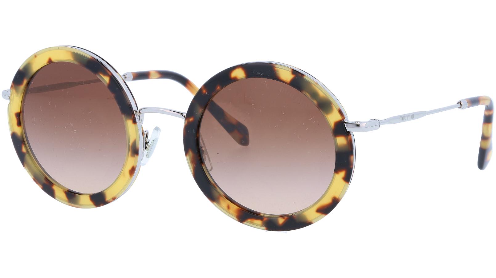 MIU MIU MU59US 7S06S1 48 Havana Round Sunglasses