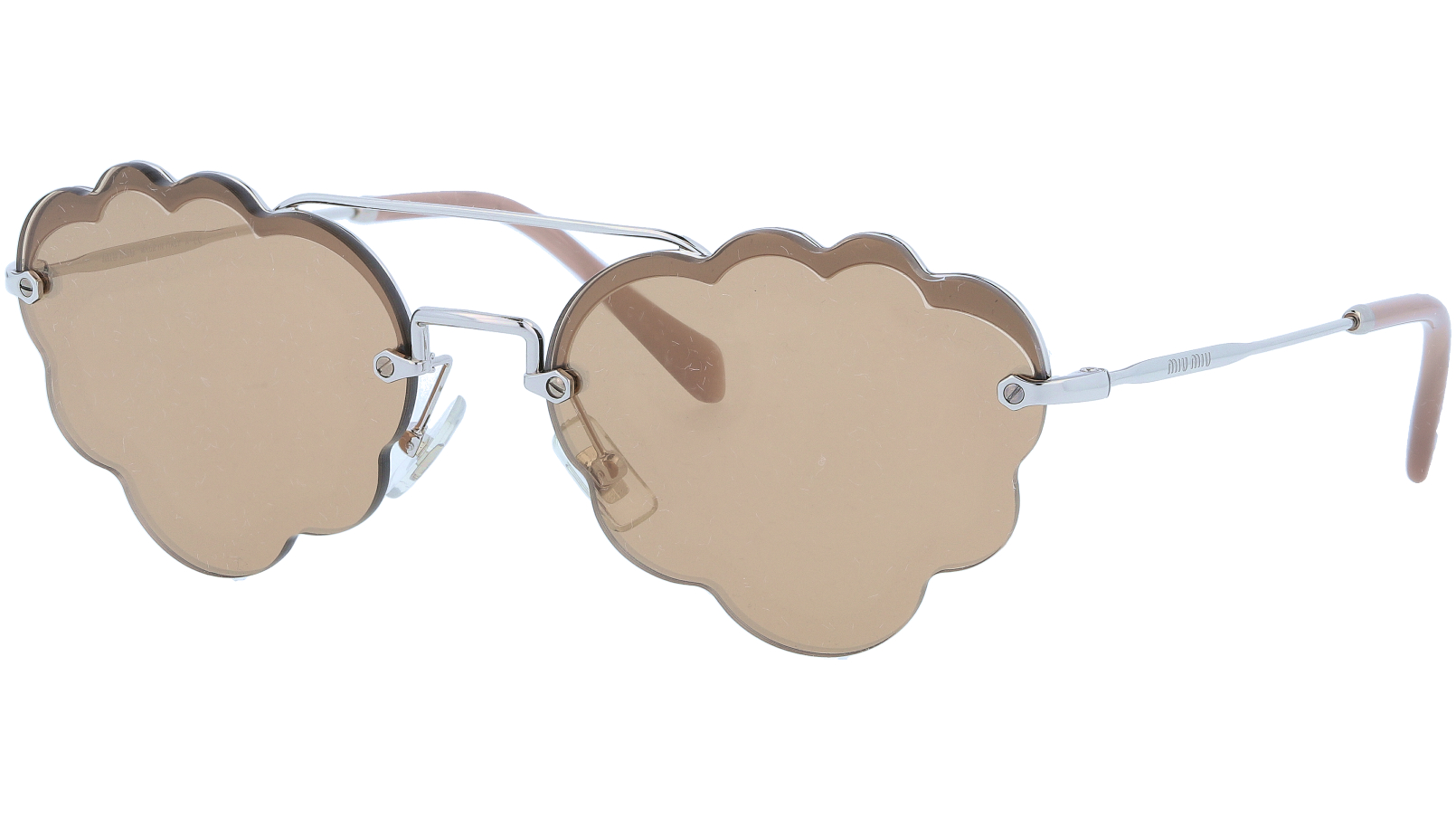 MIU MIU MU57US 1BC176 58 Silver Cloud Sunglasses