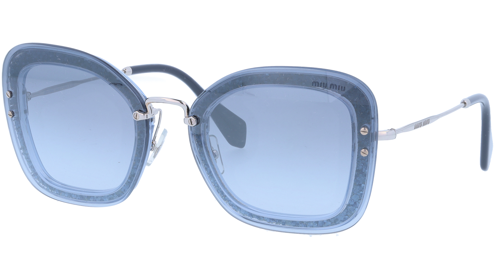 MIU MIU MU02TS 102156 65 Blue Cat-Eye Sunglasses