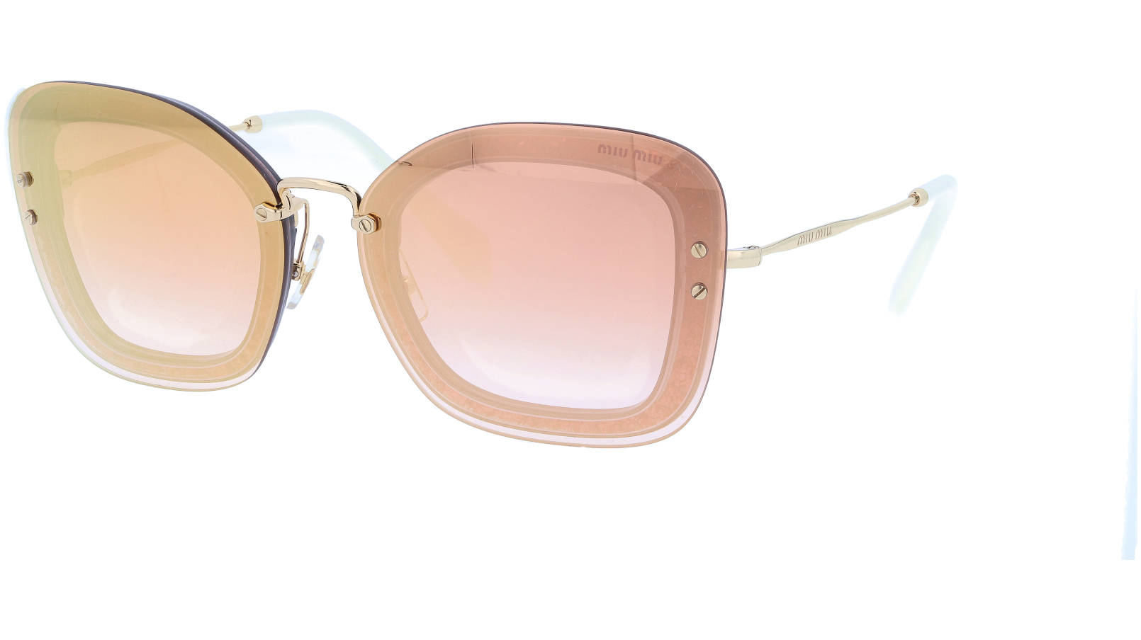 MIU MIU MU02TS 109AD2 65 Pink Cat-Eye Sunglasses