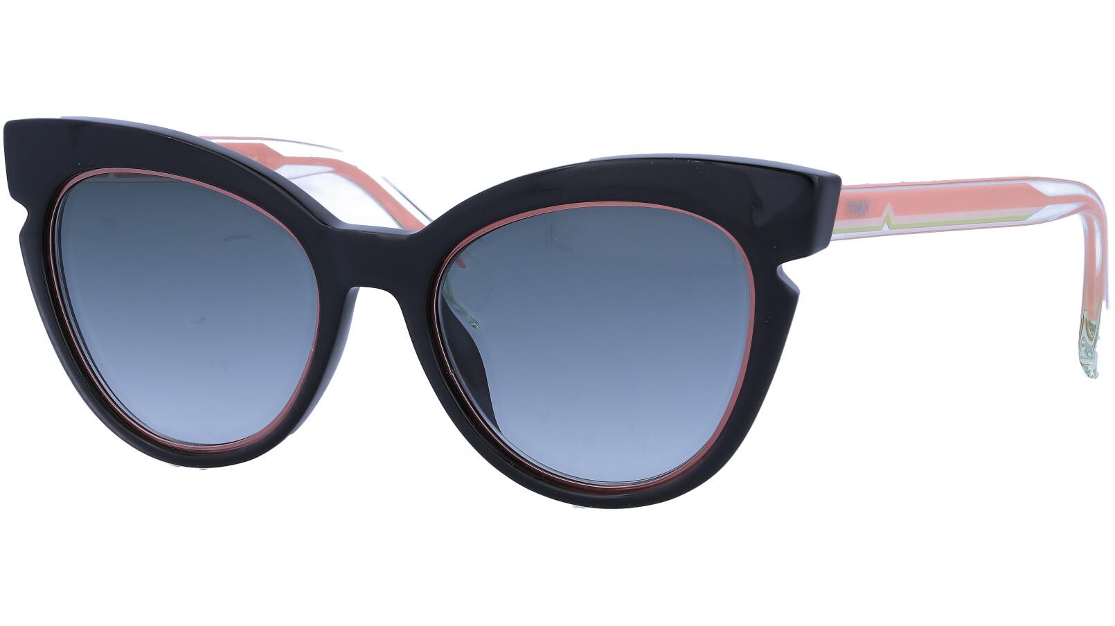 FENDI FF0132/S N7AJJ 51 Black Cat-Eye Sunglasses