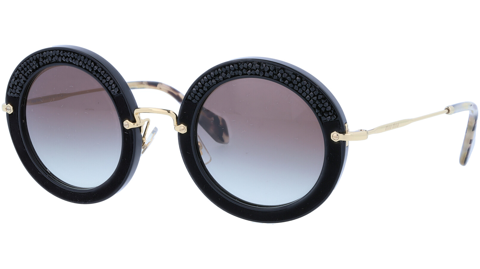 MIU MIU MU08RS 1AB0A7 49 BLACK Sunglasses
