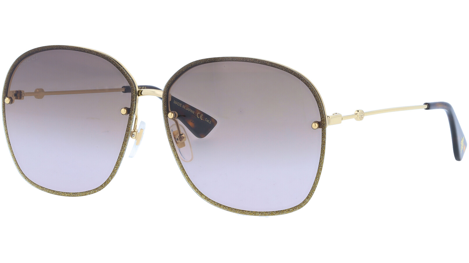 GUCCI GG0228S 002 63 GOLD Sunglasses