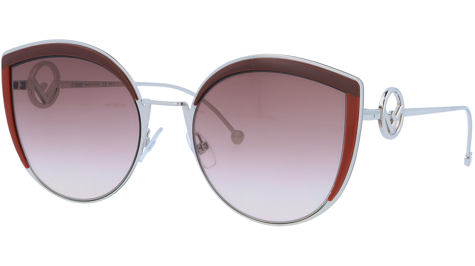 FENDI FF0290/S LHFHA 58 Burgundy Opal Cat-Eye Sunglasses