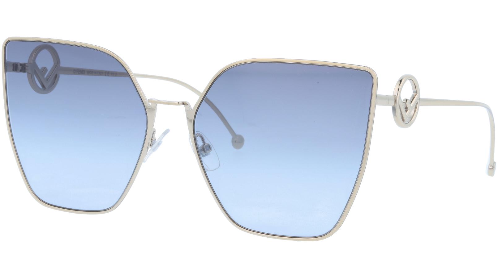 FENDI FF0323/S 3YGGB 63 Light Gold Cat-Eye Sunglasses