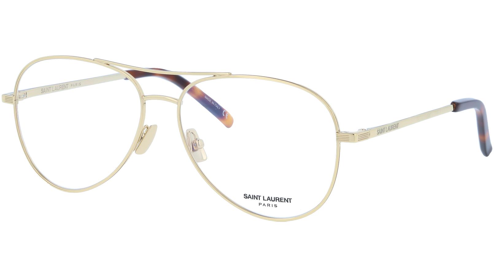 Saint Laurent SL153 002 57 Gold Glasses