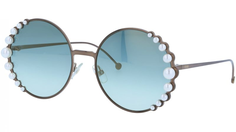 FENDI FF0295/S J7DEZ 58 Bronze Pearl Sunglasses