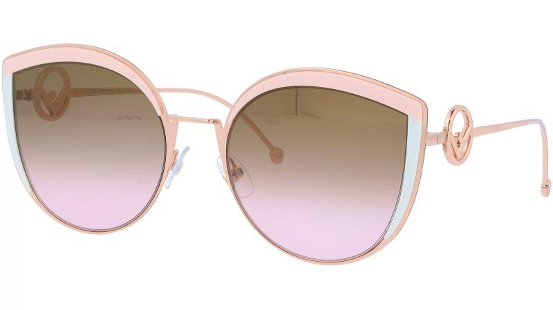 FENDI FF0290/S 35J53 58 Pink Cat-Eye Sunglasses