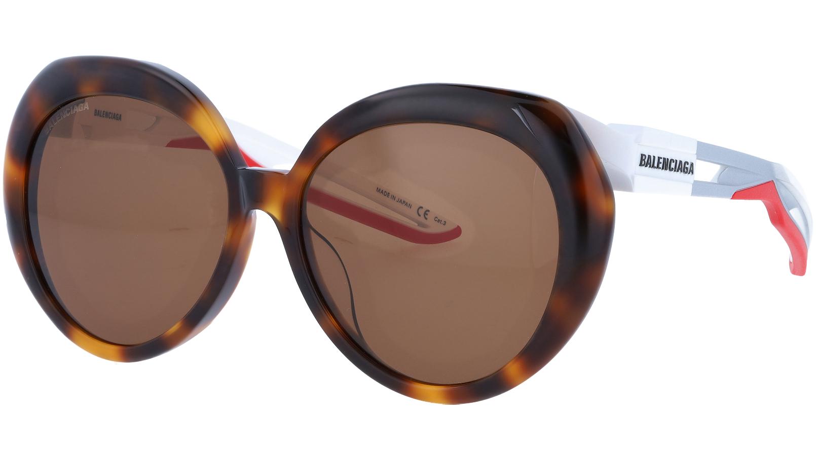 BALENCIAGA BB0024SA 002 56 HAVANA Sunglasses
