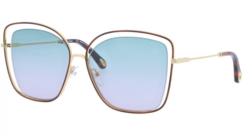 Chloé CE133S 240 60 Havana Green Cat-Eye Sunglasses
