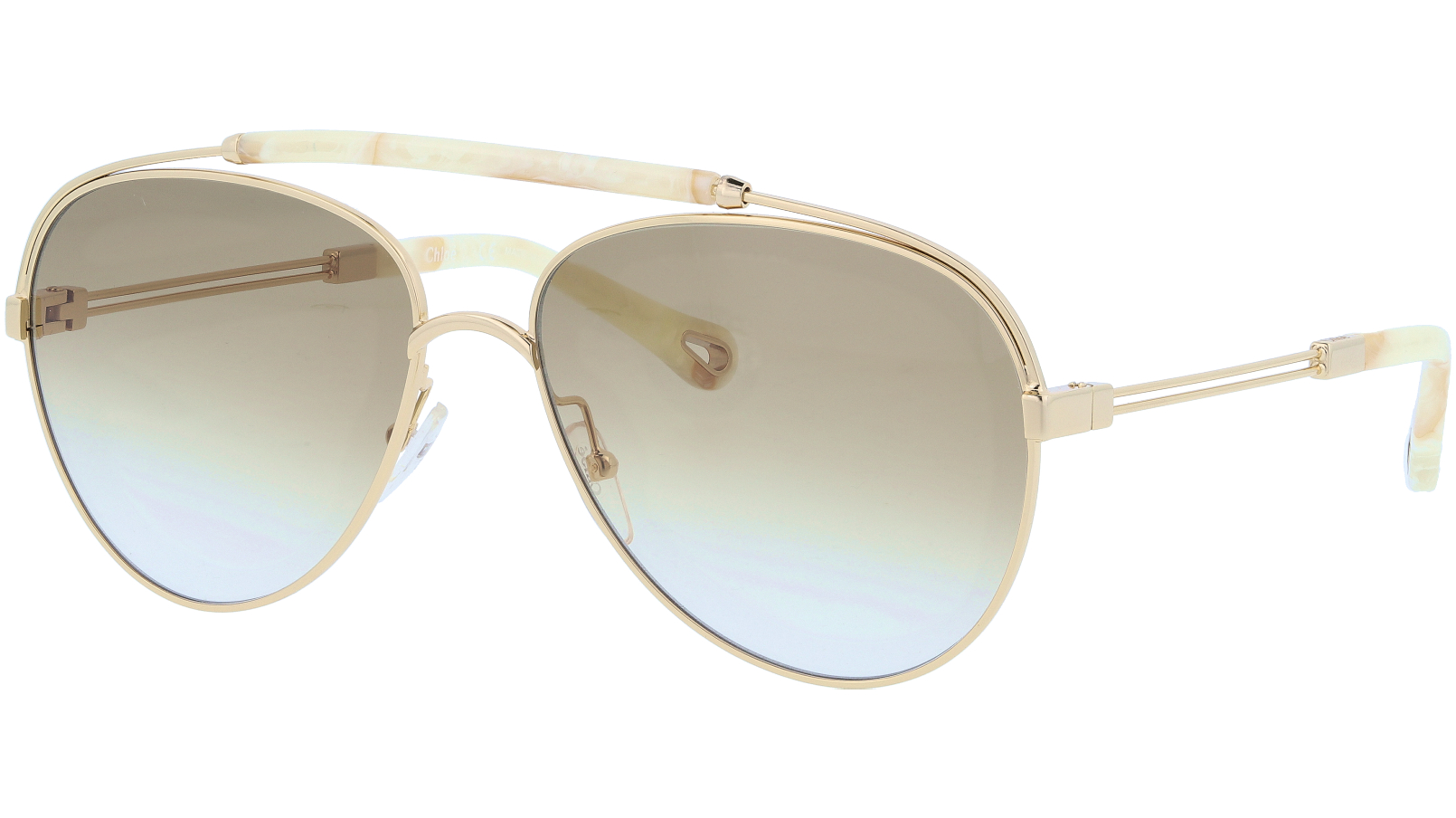 CHLOE CE141S 795 59 Gold Aviator Sunglasses