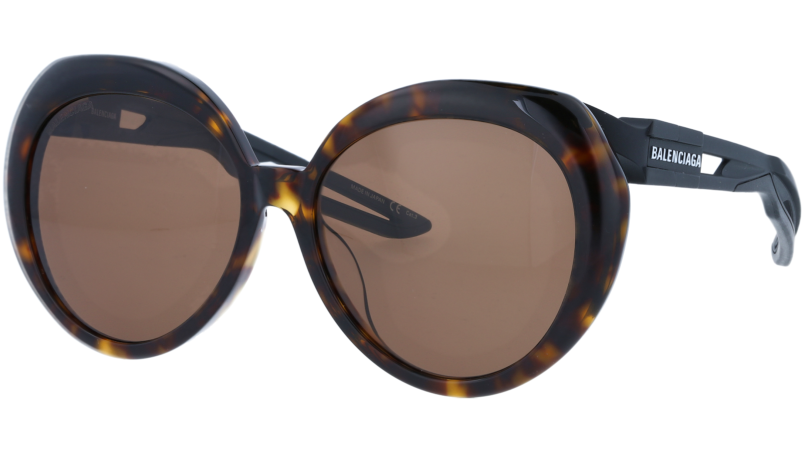 Balenciaga BB0024SA 001 56 Havana Sunglasses