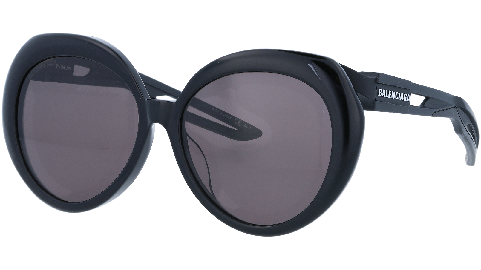 BALENCIAGA BB0024SA 004 56 BLACK Sunglasses