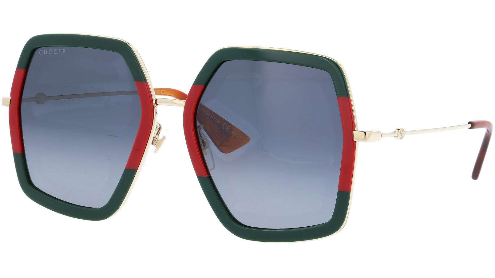 GUCCI GG0106S 008 56 GREEN Sunglasses