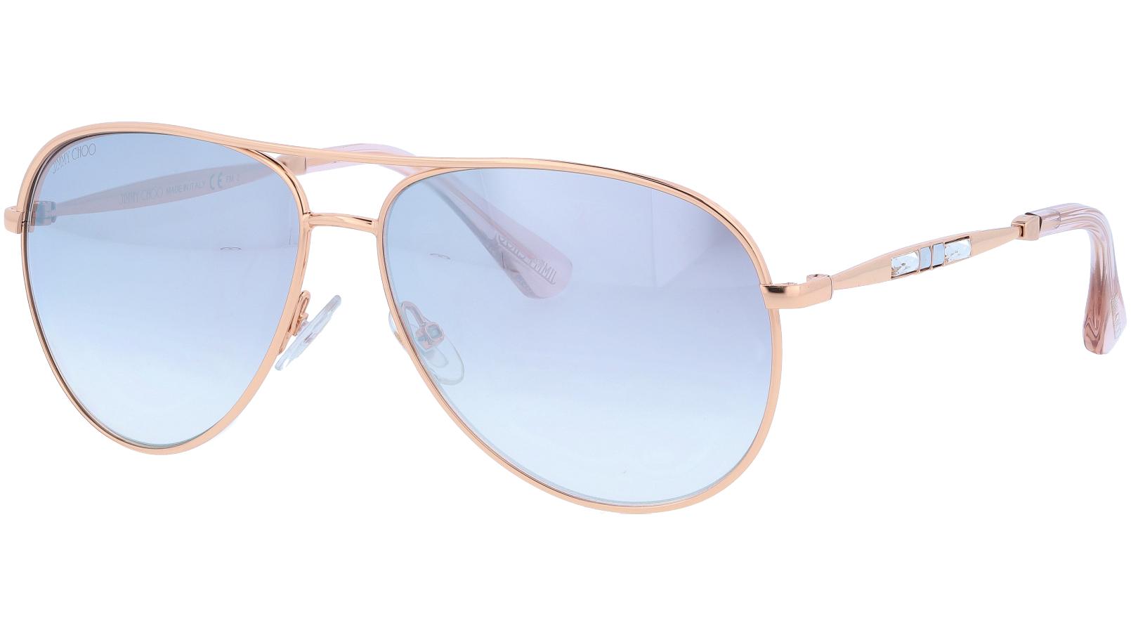 Jimmy Choo JEWLYS DDBFU 58 Gold Sunglasses
