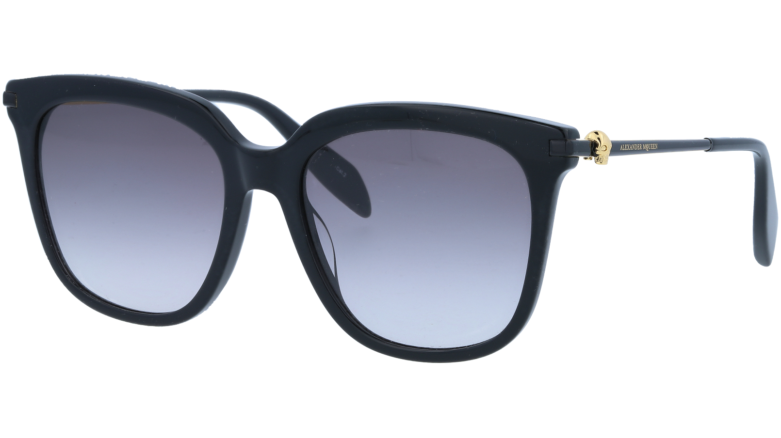 ALEXANDER MCQUEEN AM0107S 001 55 BLACK Sunglasses
