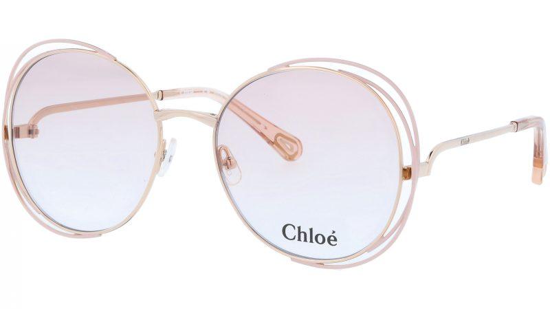 Chloé CE2138 739 56 Gold Rose Round Sunglasses