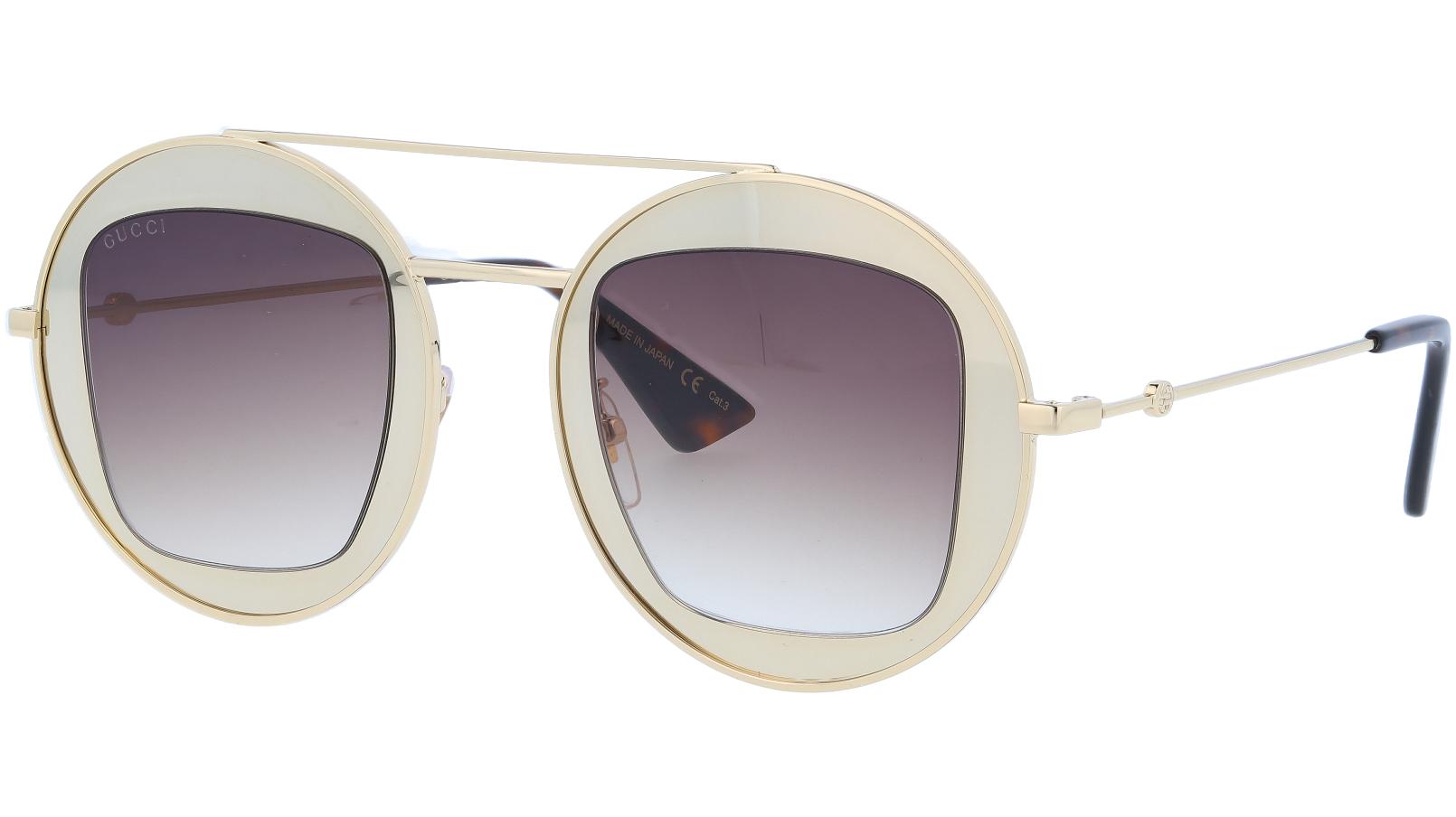 GUCCI GG0105S 002 47 GOLD Sunglasses