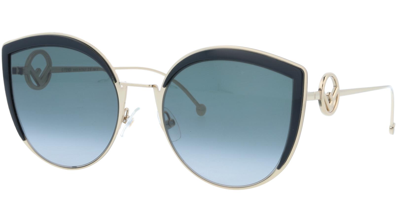 FENDI FF0290/S 8079O 58 Black Cat-Eye Sunglasses