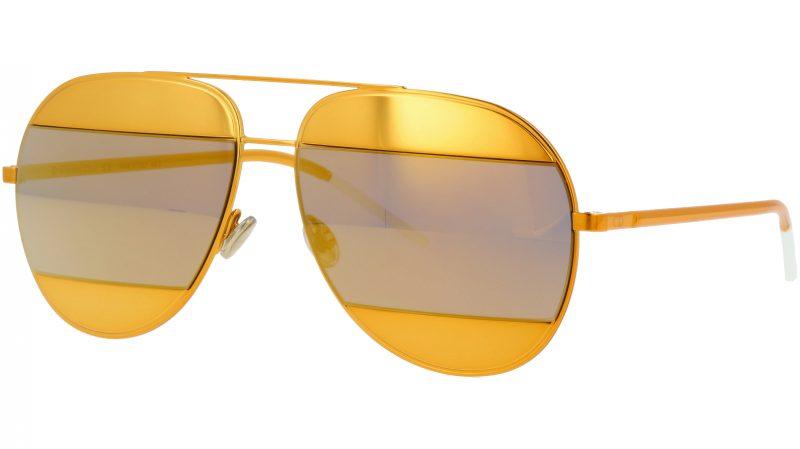 Dior SPLIT1 1VTSQ 59 Yellow Sunglasses
