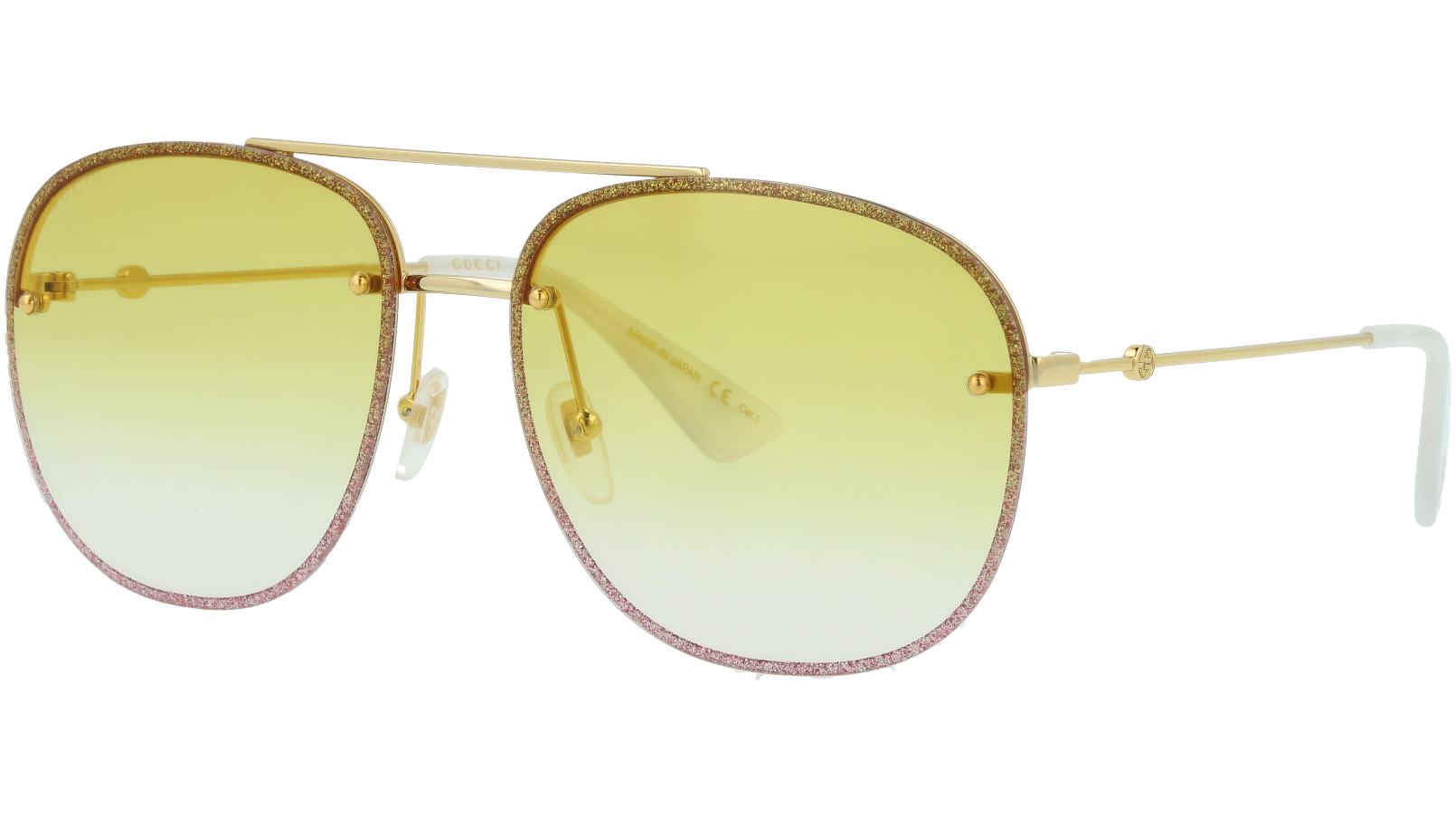 GUCCI GG0351S 002 62 GOLD Sunglasses