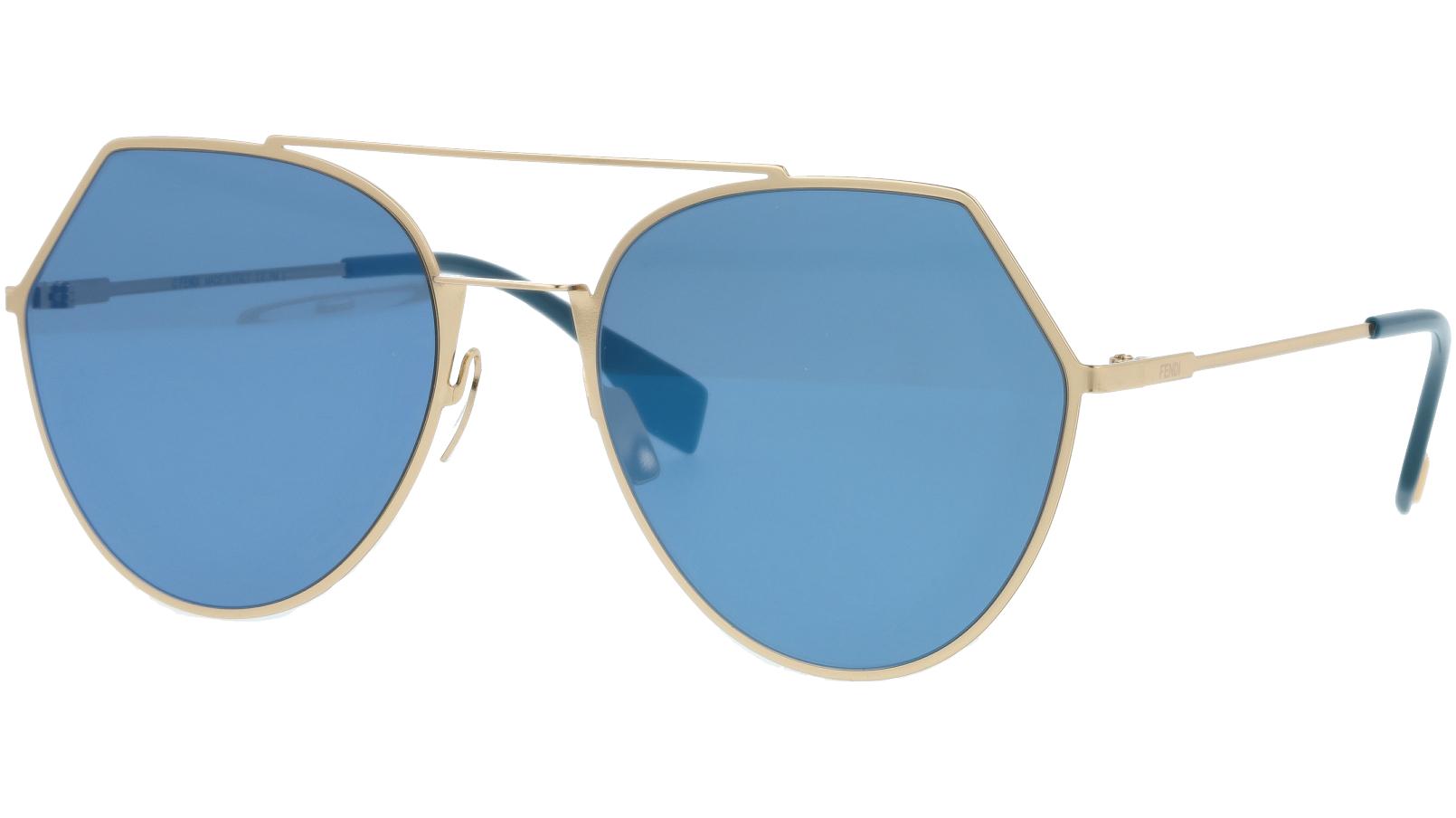 FENDI FF0194/S 0002A 55 Rose Gold Sunglasses