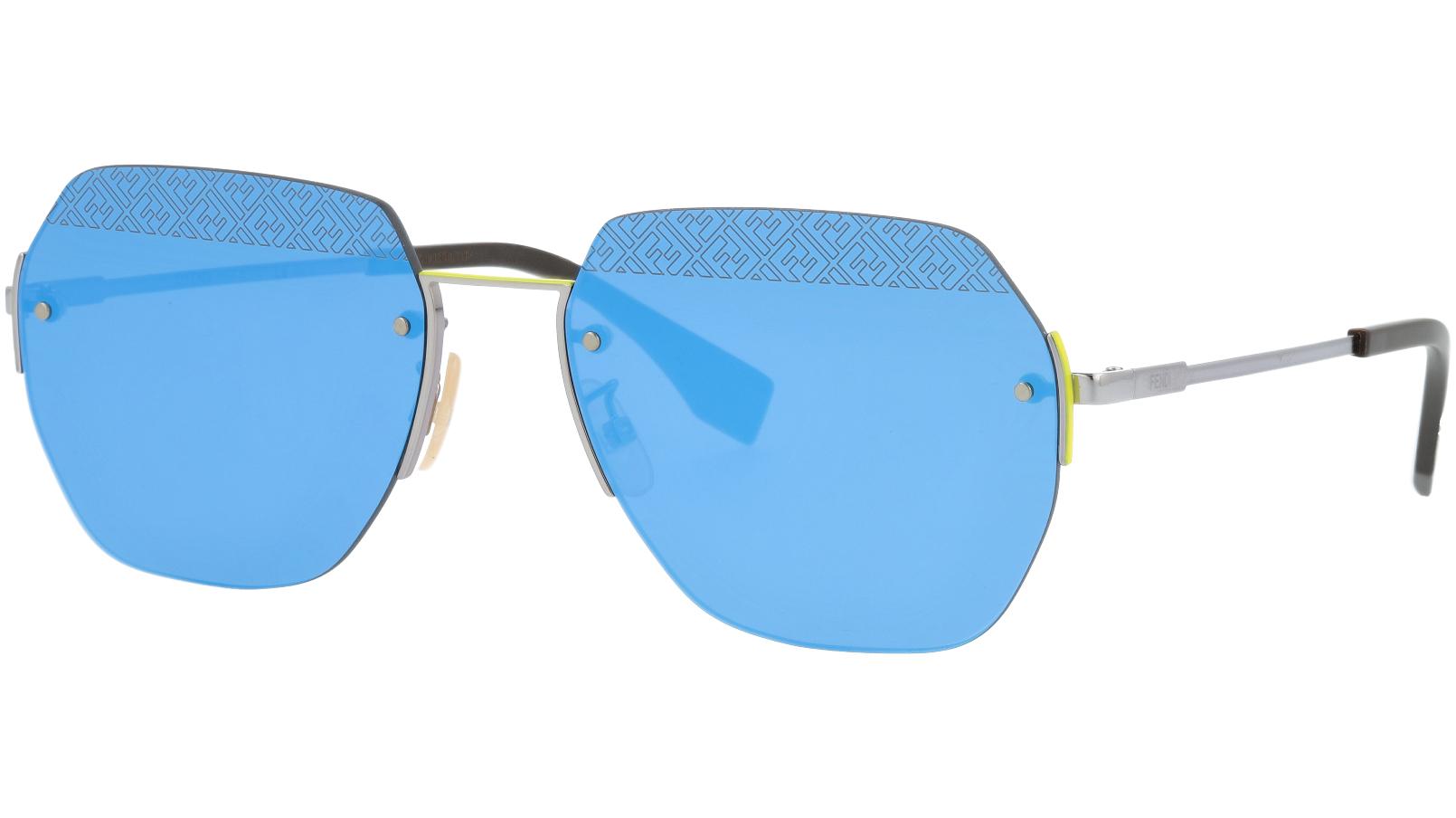 FENDI FFM0067/F/S MVU3J 60 Azure Blue Geometric Sunglasses