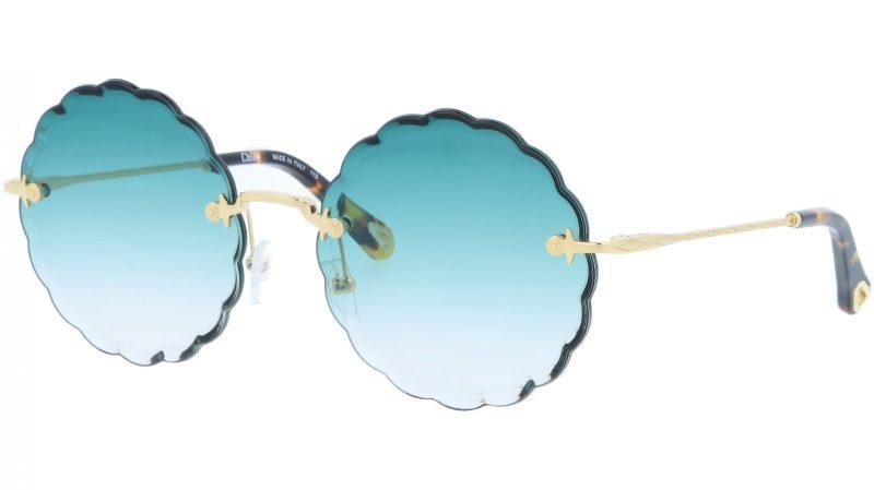 Chloé Rosie CE142S 838 60 Gold Petrol Rimless Sunglasses