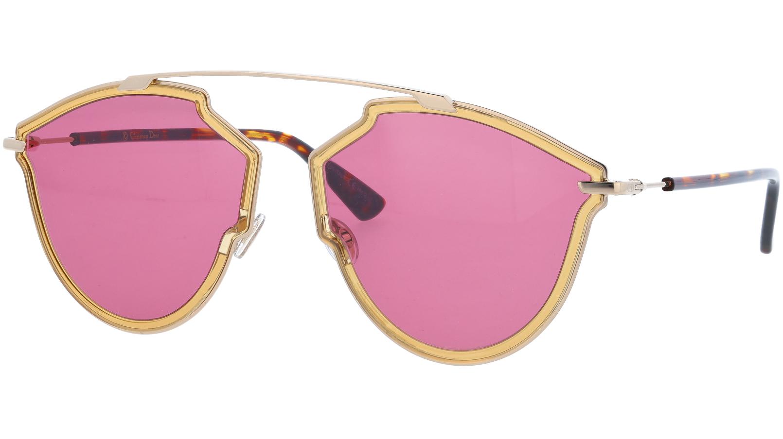 DIOR DIORSOREALRISE 001U1 58 YELLOW Sunglasses
