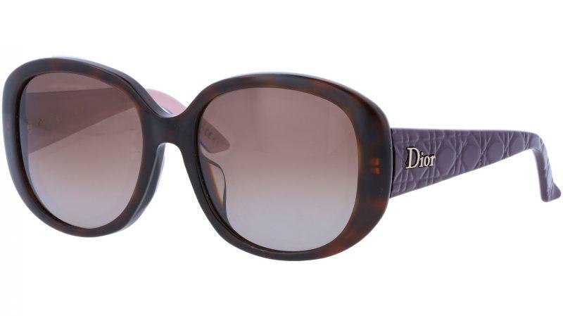 Dior LADYINDior1F CZZLA 55 Purple Sunglasses