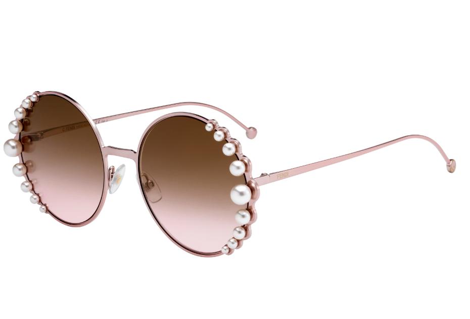 FENDI FF0295/S 35J53 58 Pink Pearl Sunglasses