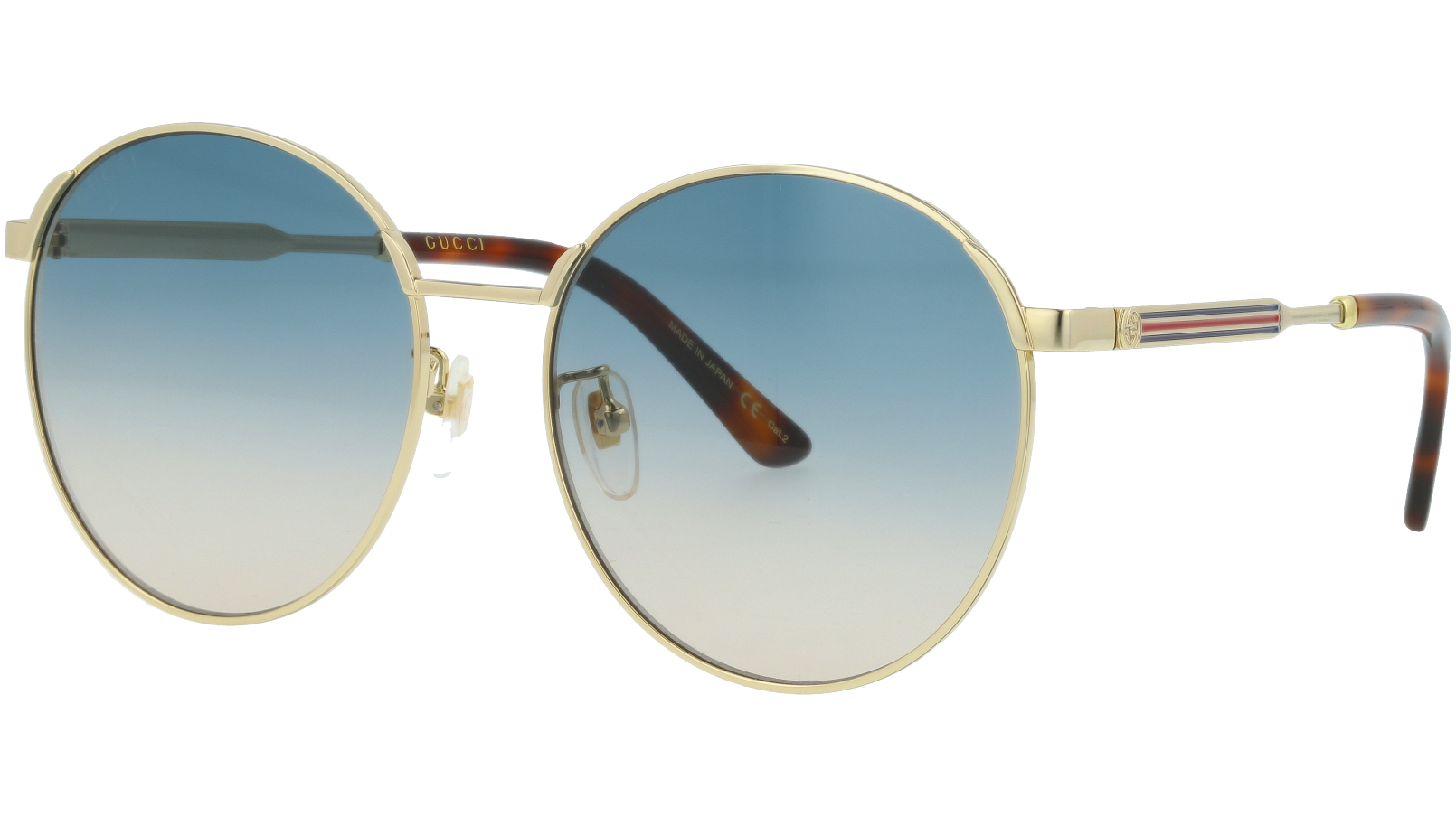 GUCCI GG0206SK 005 58 GOLD Sunglasses