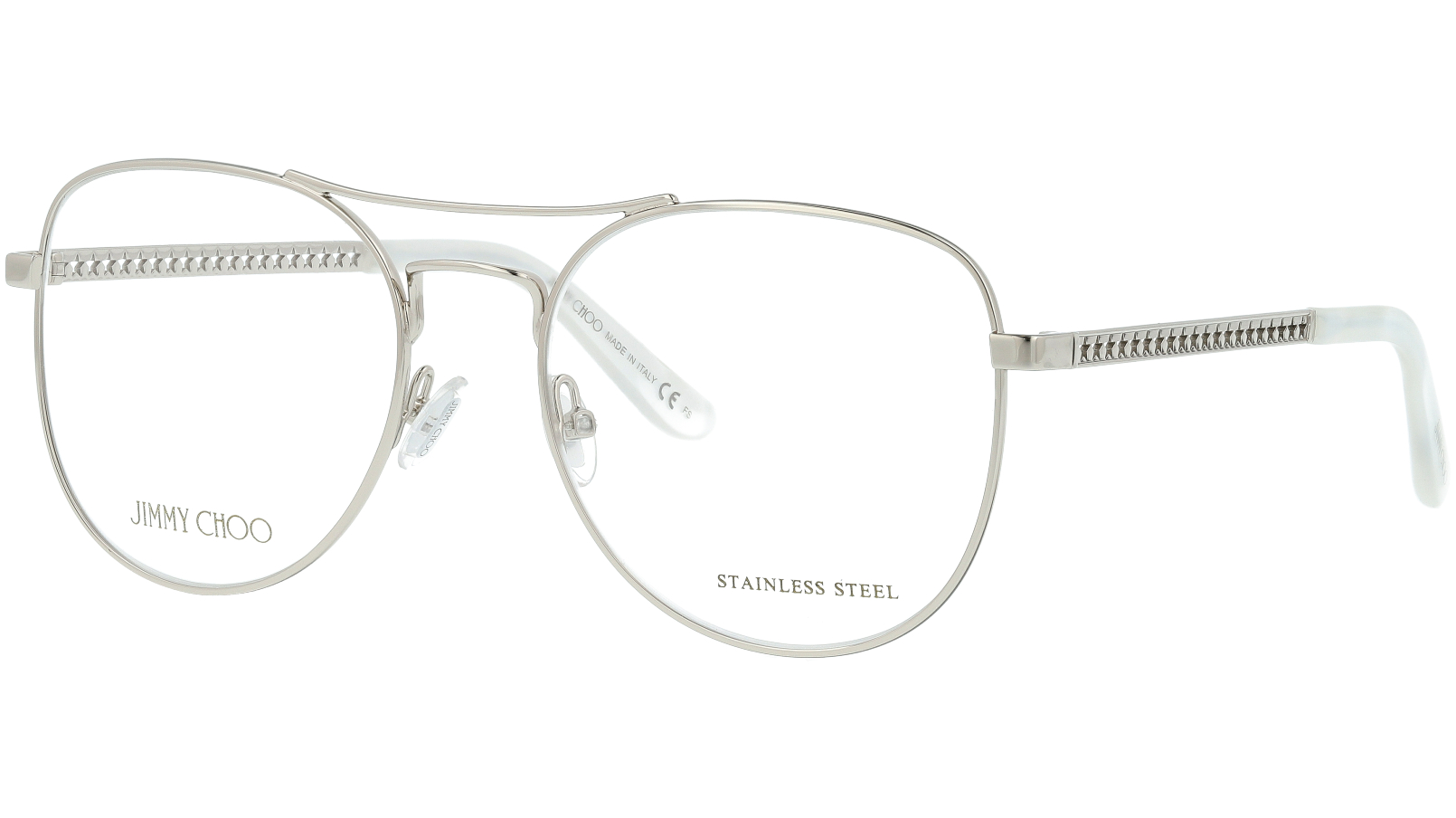 JIMMY CHOO JC200 YB7 54 SILVER Glasses