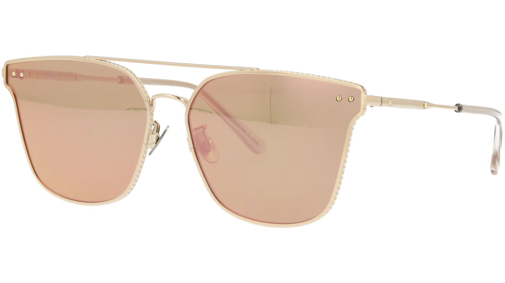 BOTTEGA VENETA BV0158SK 004 64 GOLD Sunglasses