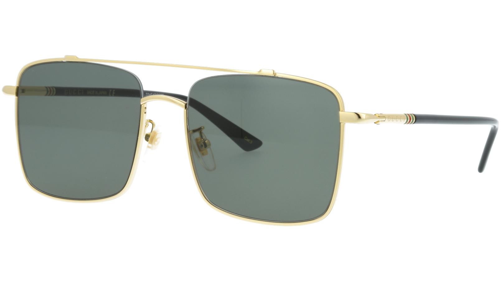 Gucci GG0610SK 001 56 Gold Square Sunglasses