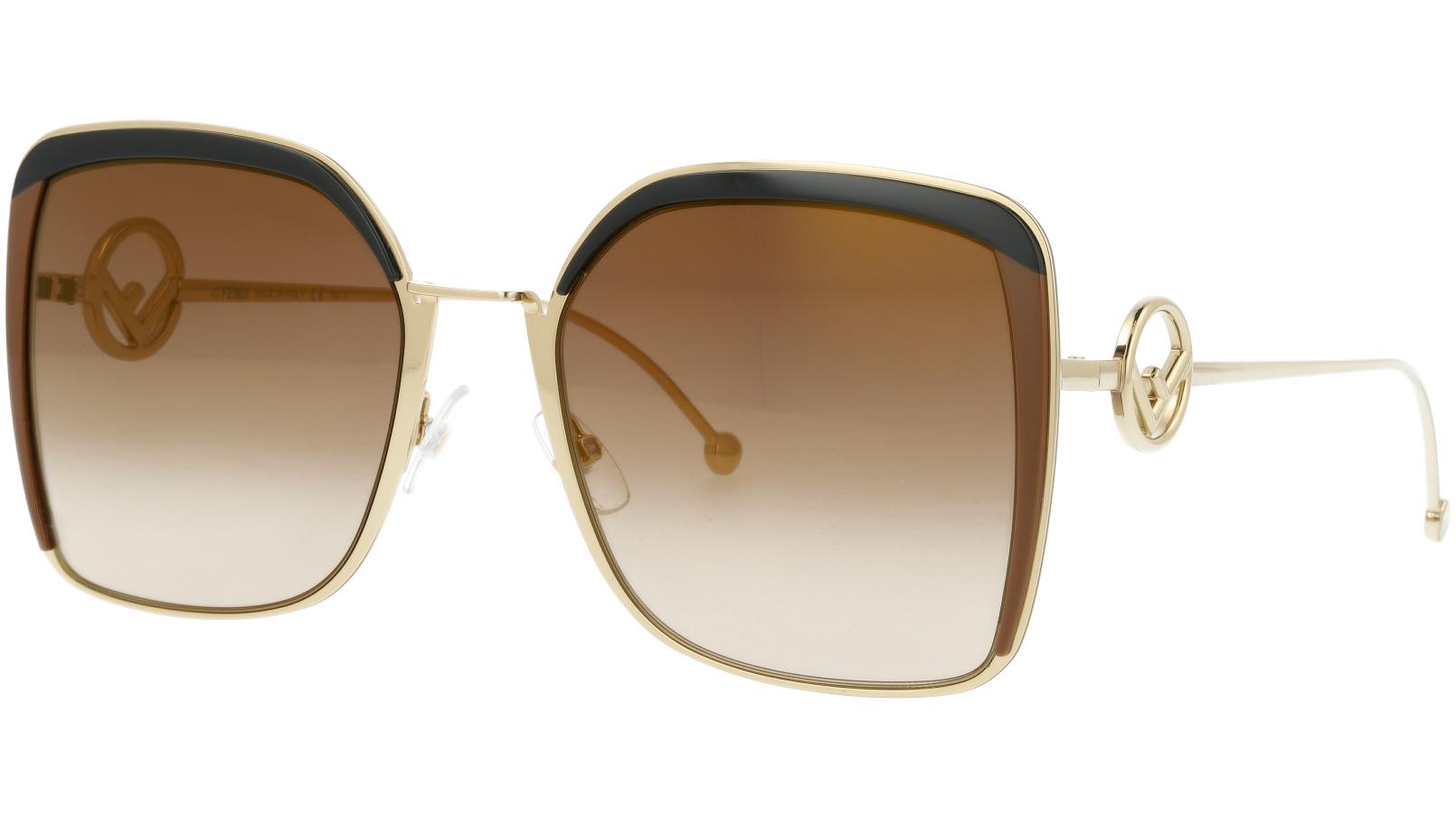FENDI FF0294/S 09QJL 58 Brown Square Sunglasses