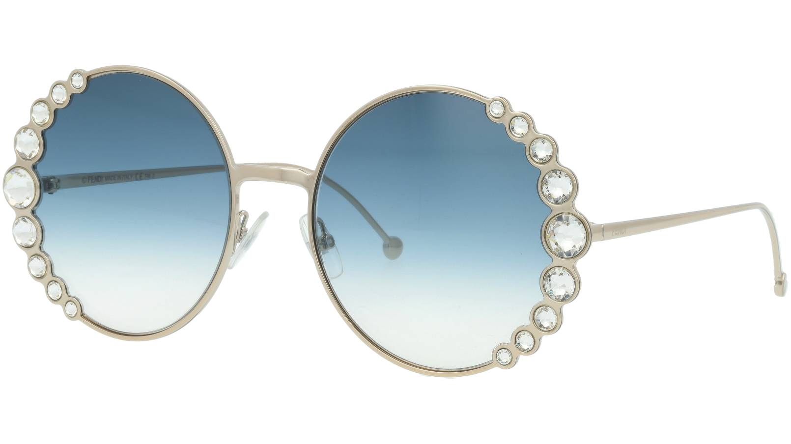 FENDI FF0324/S 3YG08 58 Light Gold Diamond Sunglasses
