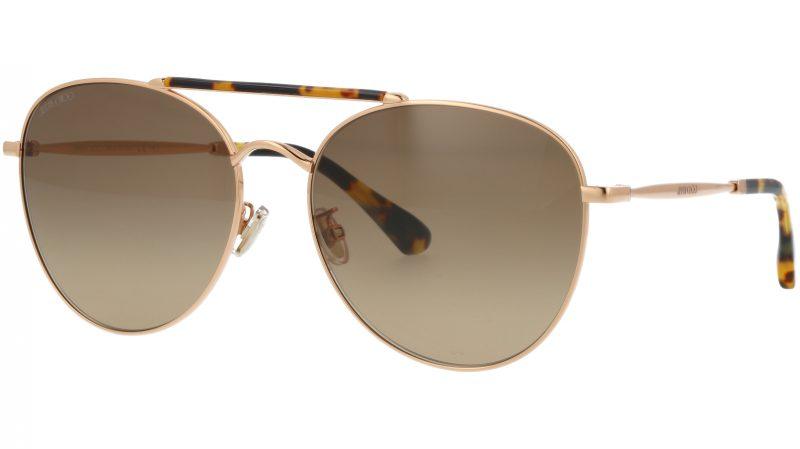 JIMMY CHOO ABBIEGS 06JHA 61 GOLD Sunglasses