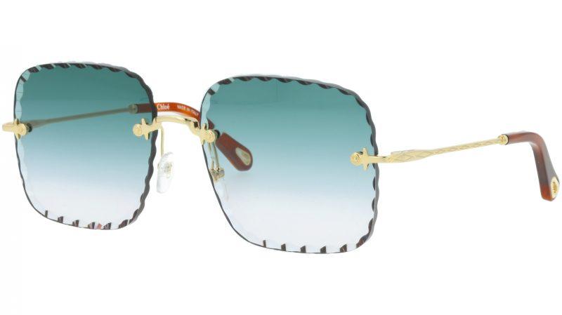 CHLOE Rosie CE161S 838 59 Gold Square Sunglasses