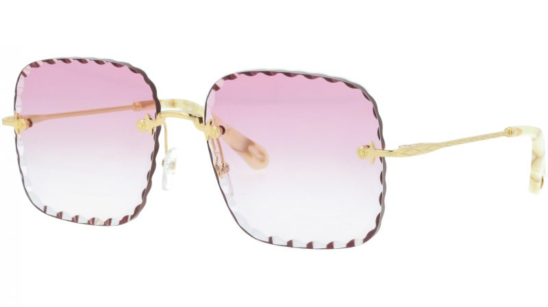 CHLOE Rosie CE161S 818 59 Gold Square Sunglasses