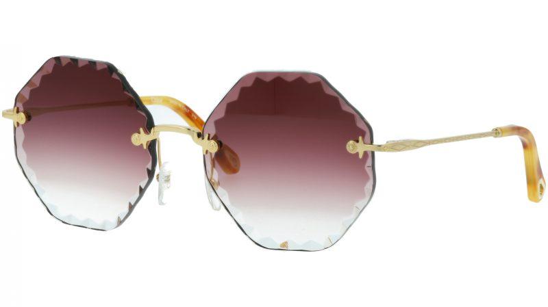 Chloé Rosie CE143S 840 58 Gold Burgundy Sunglasses