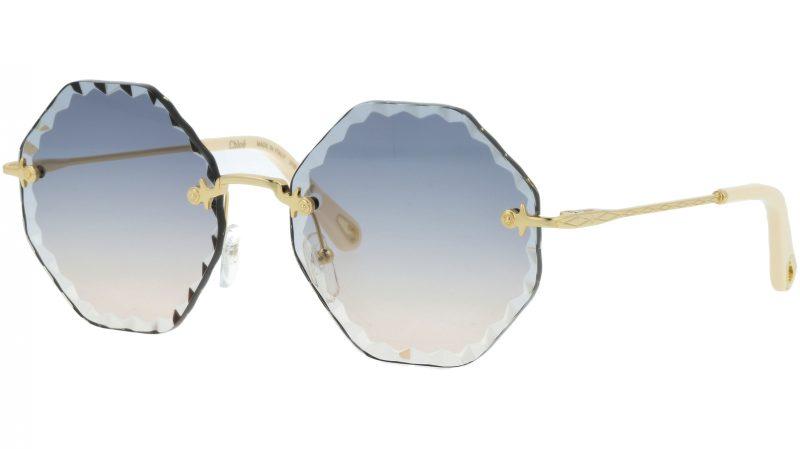 Chloé Rosie CE143S 868 58 Gold Nude Blue Sunglasses